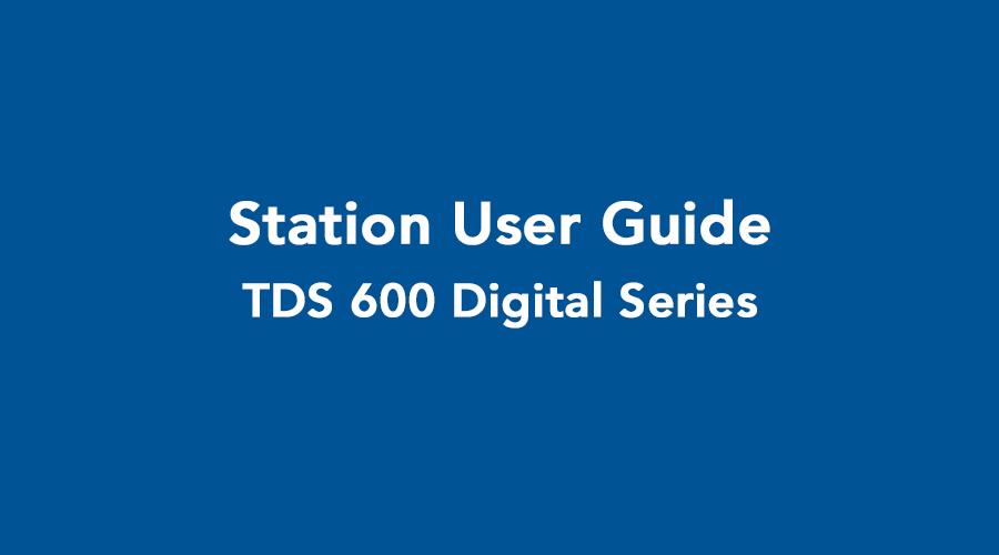 TDS 600 User Guide